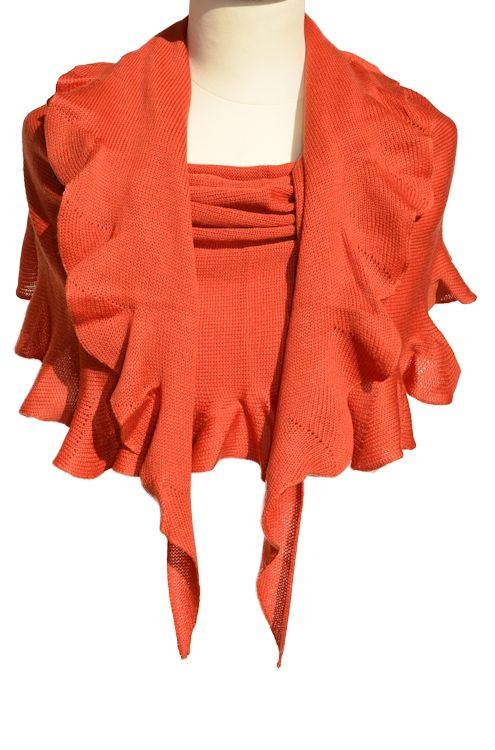 Merinovilla huivi oranssi.